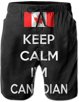 Trunks I Like Exercise Keep Calm I'm Canadian Mens Summer each Shorts Swim with Pockets X