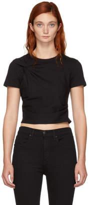 Alexander Wang Black Twist Top T-Shirt