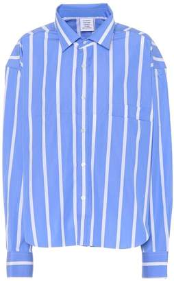 Vetements Oversized Striped Polin Shirt