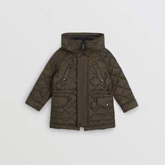 Burberry Childrens Diamond Quilted Hooded Jacket