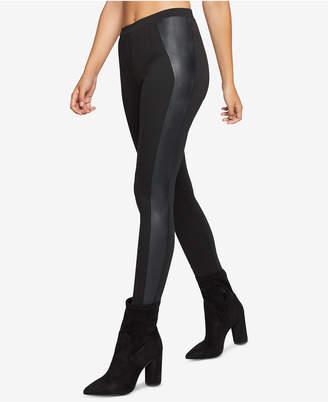 BCBGeneration Faux-Leather-Contrast Leggings