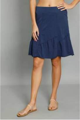 Mod-o-doc Mododoc Asymmetrical Seamed Skirt