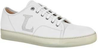 Lanvin Perforated Logo Basket Sneakers