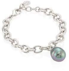 Majorica 14MM Grey Baroque Pearl Bracelet