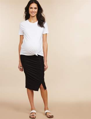 Motherhood Maternity Under Belly Pencil Fit Maternity Skirt