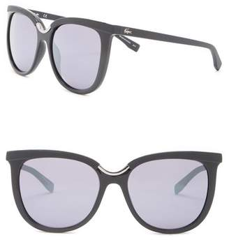 Lacoste 55mm Large Round Sunglasses