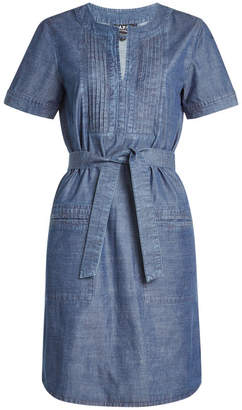 A.P.C. Denim Dress with Belt