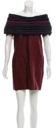 Burberry Silk Overlay Dress navy Silk Overlay Dress