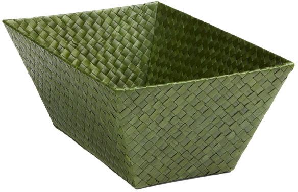 Container Store Small Rectangular Pandan Basket Fern