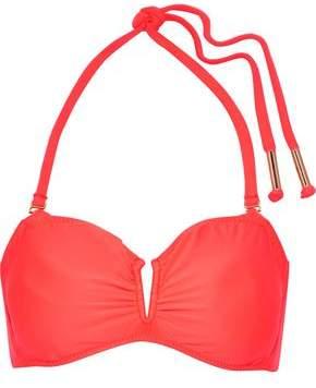 Eberjey Ruched Neon Halterneck Bikini Top