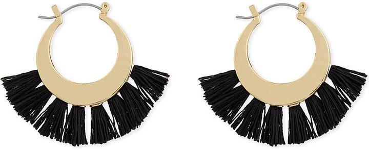 Rebecca MinkoffRebecca Minkoff Palm tassel hoop earrings