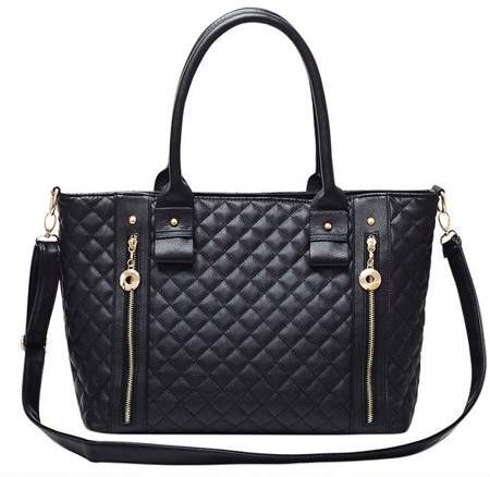 Music Women Lady Lingge Pattern Handbag Shoulder Bag Handbags & Crossbody Bags Tote Purse Hot Fashion PU Leather