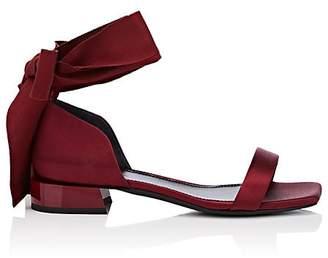 Lanvin Women's Satin Ankle-Tie Sandals
