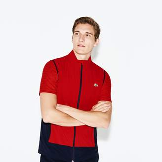 Lacoste Men's SPORT Colorblock Technical Taffeta Golf Quilted Vest