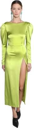 16Arlington Silk Satin Midi Dress