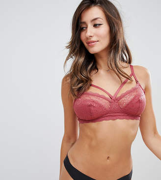 New Look Maternity Lace And Strapping Bralet