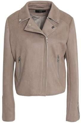 Line Faux Suede Jacket