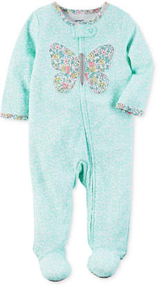 Carter's 1-Pc. Floral-Print Butterfly Footed Coverall, Baby Girls (0-24 months) $16 thestylecure.com