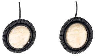 Bottega Veneta Milk Hay Cameo Earrings