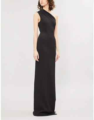 SOLACE London Averie one-shoulder crepe maxi dress