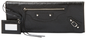 Balenciaga  Classic Leather East West Clutch