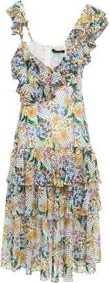 Marissa Webb Lisandra Tiered Ruffled Printed Gauze Midi Dress