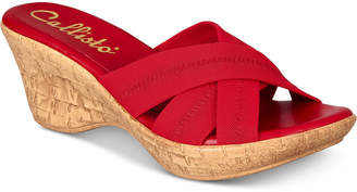 Callisto Odessa Slide Platform Wedge Sandals, Created for Macy's Women's Shoes