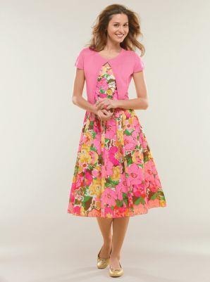 Floral-print cotton dress