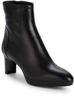 Aquatalia Danni Leather Heeled Booties