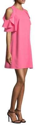 Kate Spade Key Pieces Petunia Ruffled Cold-Shoulder Dress
