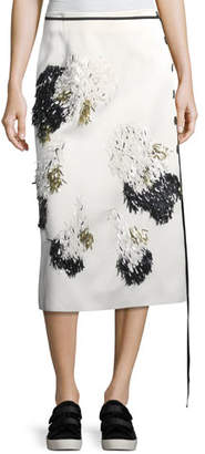 Derek Lam Embellished Side-Button Midi Skirt