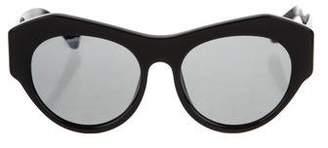Linda Farrow x Round Tinted Sunglasses