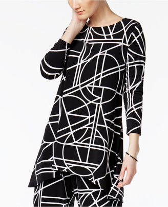 Alfani Geo-Print High-Low Tunic Top, Only at Macy's $64.50 thestylecure.com