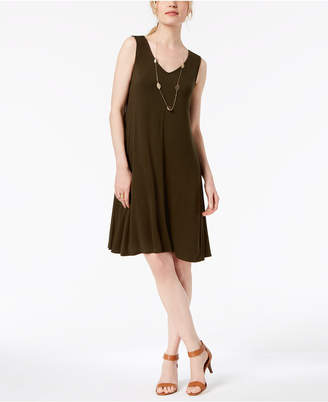 Style&Co. Style & Co Petite Cross-Back Swing Dress, Created for Macy's