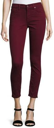 7 For All Mankind The Ankle Skinny Jeans, Cranberry $169 thestylecure.com