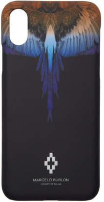 Marcelo Burlon County of Milan Black Wings iPhone X Case