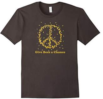Give bees a chance peace sign t-shirt