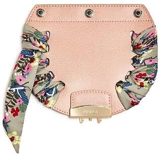 Furla My Play Interchangeable Metropolis Mini Floral Print Scarf Leather Flap