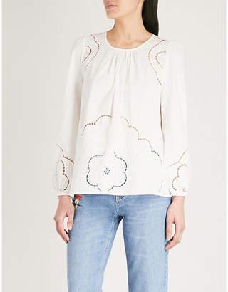 Claudie Pierlot Cutout-detail cotton top