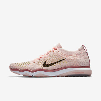 Nike Air Zoom Fearless Flyknit Chrome Blush Women's Training Shoe $140 thestylecure.com