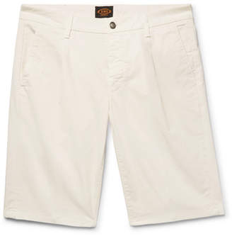 Tod's Pleated Stretch-Cotton Twill Shorts