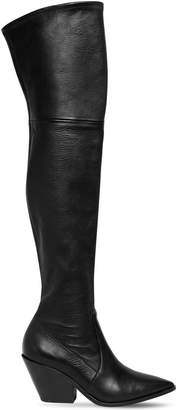 Casadei 60MM WEST STRETCH LEATHER CUISSARDE BOOT