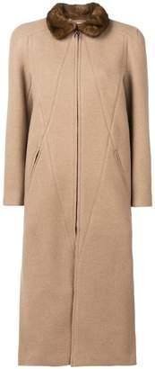 Fendi long zipped coat