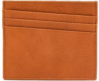 Maison Margiela Bi Colour Grained Leather Cardholder - Mens - Black Brown