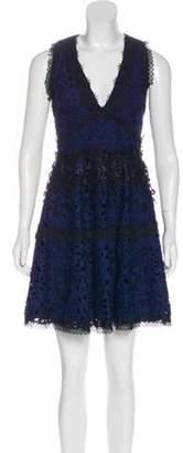 Alexis Crochet Mini Dress w/ Tags Navy Crochet Mini Dress w/ Tags