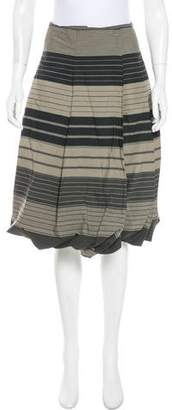 Pauw Striped Knee-Length Skirt