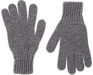 Drakes Drake's Men's Contrast-Cuff Wool Gloves