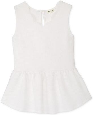 Monteau Scalloped-Neck Peplum Top, Big Girls (7-16) $32 thestylecure.com