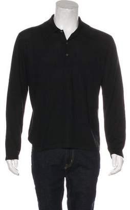 Gucci Cashmere & Silk Polo Shirt