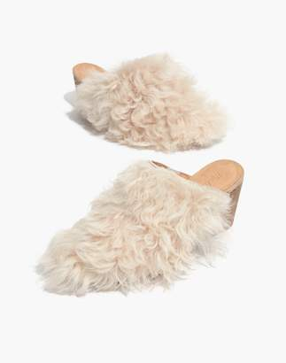 Madewell The Harper Mule in Mongolian Shearling